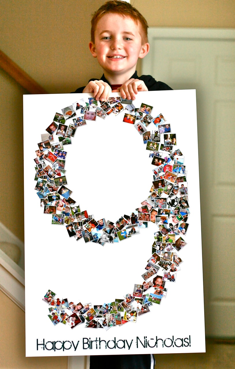 photo collage ideas for birthday - Birthday Collage Poster
