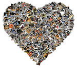 Heart shape photo collage