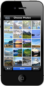 Shape Collage iPhone - Choosing Photos