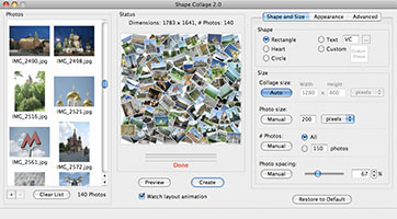 A picture collage created by Shape Collage in Mac OS X