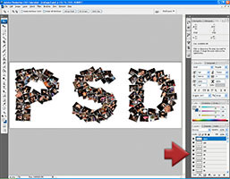 Editing a picture collage in Adobe Photoshop