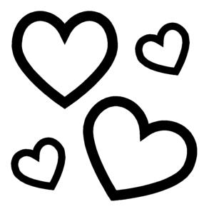 multi-heartsshape