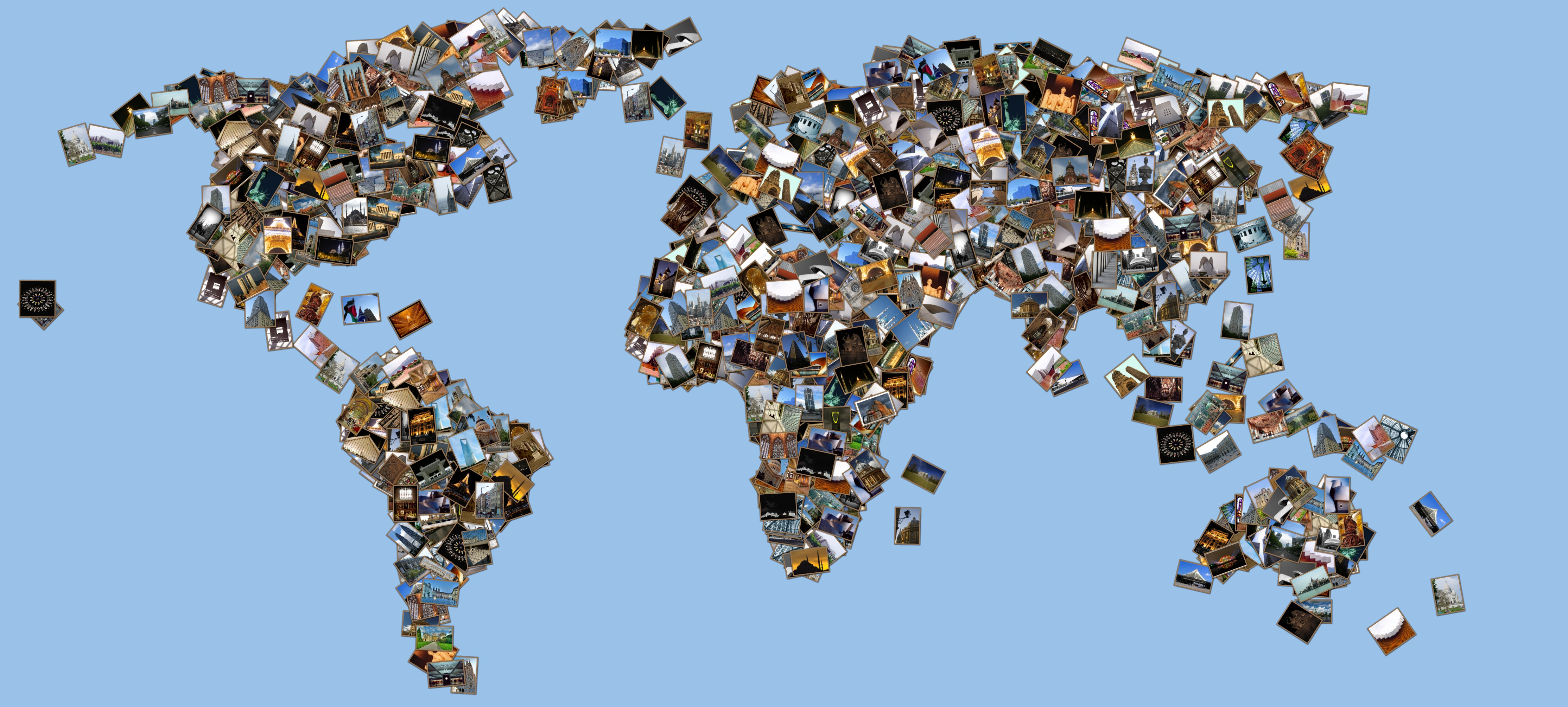 Create Collage Of The World And Edit With Gimp Photo Or After Effects